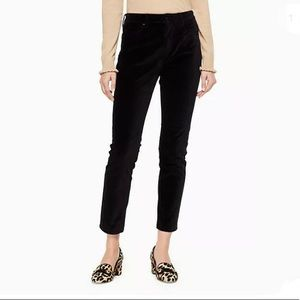 NWT Kate Spade Velveteen Velvet Black Pants